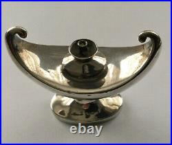 Hallmarked Silver Table Cigar Lighter 1910 By Henry Williamson Ltd