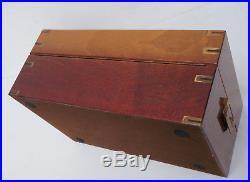 Hochwertiger Humidor Davidoff Marine, Mahagoni/ Messing, LBH 35x23x15cm. (3N3)