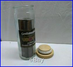 Jack Daniels Gentleman Jack Personal Cigar Aromador Humidor Glass Jar Wooden Lid