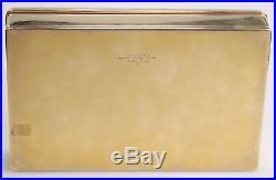 LARGE Tiffany & Co. Solid 14K Yellow Gold Cigar Box / Case Humidor 1207.28g