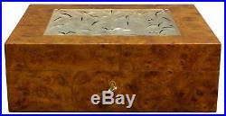 Lalique Burlwood & Crystal Cigar Humidor
