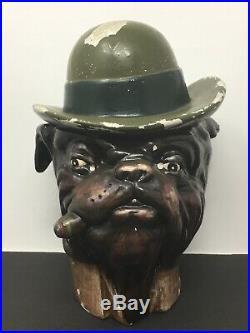 Limited Edition XONEX BullDog Tobacco Humidor Cigar Vintage Marijuana Man-cave