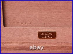 Louis Vuitton M58562 Coffret 75 Cigar Humidor Cigarette Case Wood Box Brown Rare