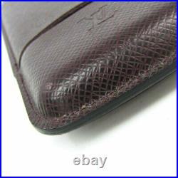 Louis Vuitton Taiga Cigar Tobacco Case Humidor Dark Brown 16.5x8.5cm Lost Box