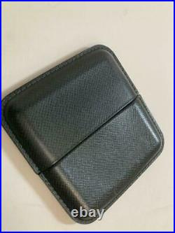 Louis Vuitton Taiga Cigar Tobacco Case Humidor Dark Green 10.5x10cm Pre-owned