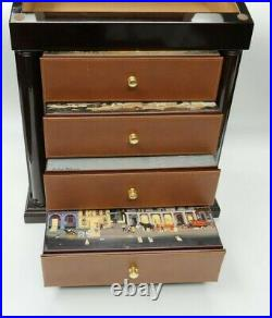 MONTE CRISTO WOOD CIGAR HUMIDOR with the artwork of Michel Delacroix 18 in. High