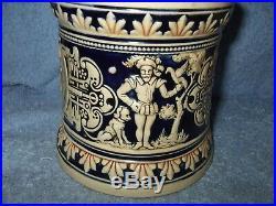 Marzi & Remy Majolica Ironstone Stoneware Humidor Tobacco Jar Germany