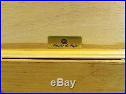 Mastro de Paja Burl Wood 50 Count Cigar Humidor With Hygrometer Italy