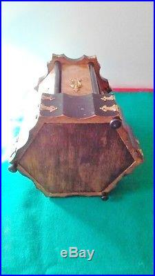 Napoleon III France Cigar Pipe Box Stand Holder XIX C. Ebonized Wood And Brass