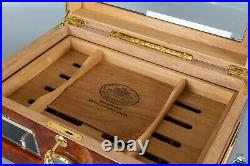 New Handmade Bossner Humidor Gilded Inlays (75-100 Cigars Capacity)