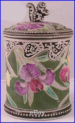 Nippon Porcelain Moriage Humidor