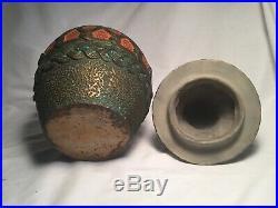 Old Antique Tobacco Jar Vintage Humidor Egyptian Sphinx Body