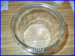 Old LA PALINA CIGARS Glass Advertising HUMIDOR JAR WITH RARE LID