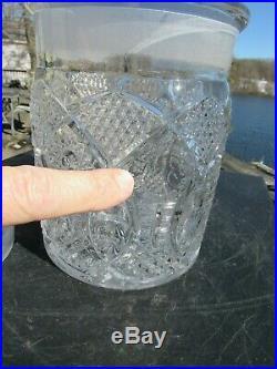 Original 1880-1910 F. R. Rice Mercantile Cigar Co. Cut Glass Humidor St Louis