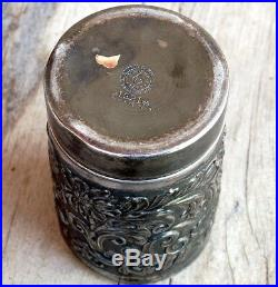 PAIRPOINT CIGAR HUMIDOR (1893) MATCH SAFE French Champagne Bottle SILVER PLATE