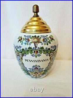 Pennsylvania original delft royal goedewaagen tobacco jar made in holland