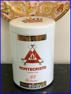 Porcelain Montecristo White Cigar Humidor Jar