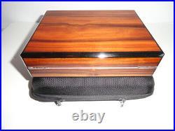 Prometheus Travel Humidor Brazilian Rosewood with case