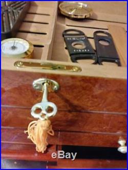 Quality Imports CIgar Humidor, Walnut/Cedar, 150+ capacity! New pics