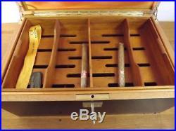 Quality Vintage Davidoff Size No. 1 Ebony Humidor (Large)