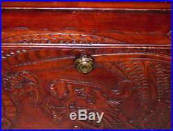 RARE Antique Benson & Hedges Carved Humidor Box Havana Cigars Tobacco Asian