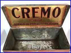 RARE Antique CREMO CIGAR Metal Humidor Counter Display