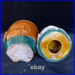 RARE GENTLEMAN DOG with CIGAR Tobacco Jar Antique Majolica Pottery Humidor c1880