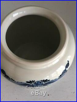 RARE Zenith Gouda Holland Delft Blue Limited Edition Tobacco Jar Captain Spice