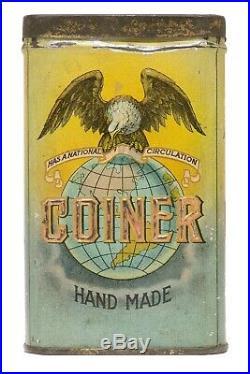 Rare 1912 Coiner litho 25 cigar humidor tin in good condition