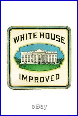 Rare 1920s White House rectangular 50 humidor cigar tin in excellent condition