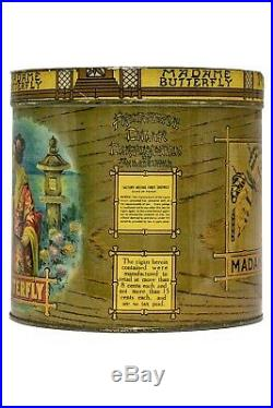 Rare 1920s litho 50 blunts cigar humidor tin in excellent condition
