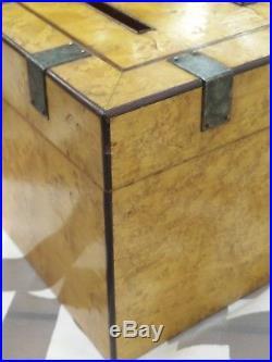 Rare ANTIQUE CIGAR TOBACCO HUMIDOR. Lated 19 th Century