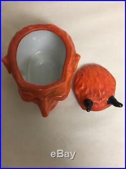 Rare Antique Devil Head Tobacco Jar/humidor Victoria Carlsbad Austria Porcelain