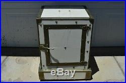 Rare Antique Wilke Porcelain Tile Cigar Case Safe Ice Box Humidor Anderson Ind