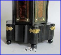 Rare NAPOLEON III FRENCH EMPIRE Gilt Metal & Burlwood Musical Humidor c. 1870