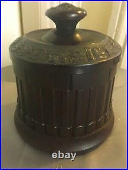 Rare Vintage Coltrock Bakelite Jarette Humidor Ashtray Pipe Cigarette Tobacco St