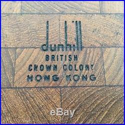 Rare Vintage DUNHILL Cigar Humidor BRITISH Crown Colony HONG KONG Lucite Lid