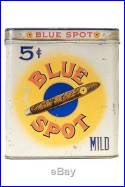 Rare1910s Blue Spot humidor 50 cigar tin in good condition