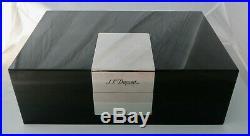 S. T. Dupont Humidor schwarz / Klavierlack Zigarren Box