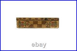 Scarce 1900s Julia Marlowe litho flat humidor hinged cigar tin in good cond