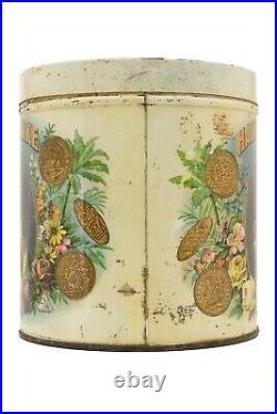 Scarce 1910s Hazel Kirke litho 50 cigar humidor tin in fair condition