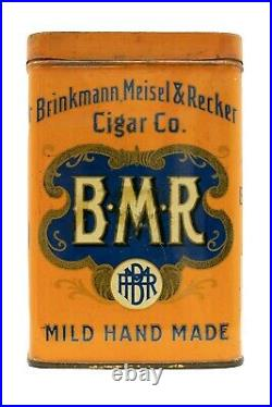 Scarce 1910s litho B. M. R. Humidor 25 cigar tin in very good condition