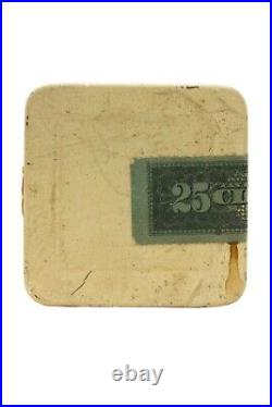Scarce 1910s paper label Integrity 25 cigar humidor tin in excellent cond