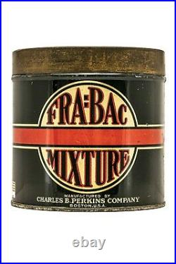 Scarce 1920s FraBac round litho 50 cigar humidor tin in very good condition