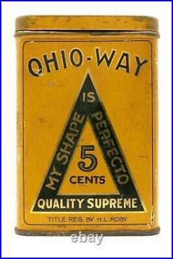 Scarce 1920s litho Ohio-Way humidor 25 cigar tin in good condition