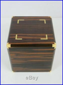 Seltener und Edeler Dunhill Zigarren Humidor aus Holz Made in France um 1980 RAR