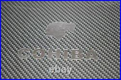 Silver Logo Carbon Fiber Travel Size Humidor Showroom Model