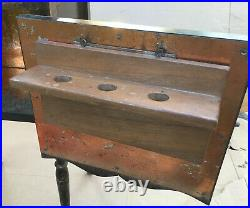 Smoker's Table Pipe Tobacco Wood stand vintage wooden smokers ashtray