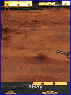 TIFFANY & CO Antique Humidor Box with KEY 1870-1906 Union Square