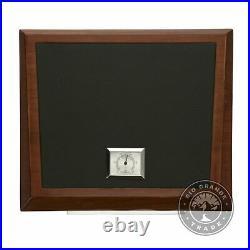 USED La Madera Cubana Premium Cigar Humidor in Wood / Elegant Leather / Steel